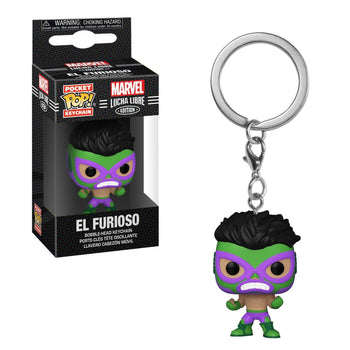 POCKET POP KEYCHAIN - MARVEL LUCHA LIBRE EDITION: EL FURIOSO (HULK)