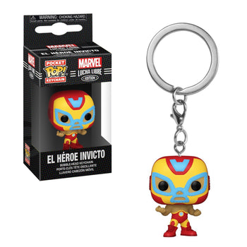 POCKET POP KEYCHAIN - MARVEL LUCHA LIBRE EDITION: EL HEROE INVICTO (IRON MAN)