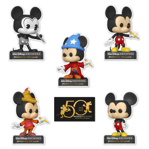 DISNEY: ARCHIVES 50TH ANNIVERSARY - MICKEY MOUSE SET (PRE-ORDER)