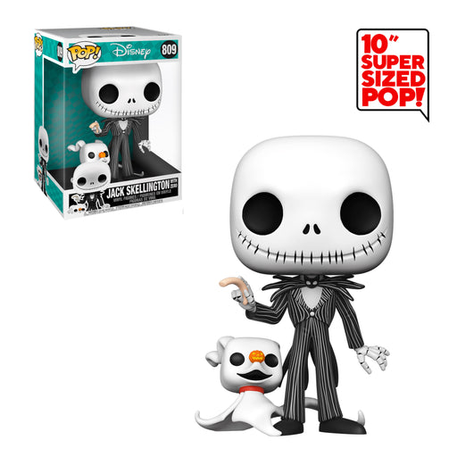"NIGHTMARE BEFORE CHRISTMAS - JACK SKELLINGTON WITH ZERO (10"") (PRE-ORDER)"