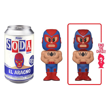 FUNKO SODA CAN: VINYL FIGURE - MARVEL: LUCHADORES - SPIDER-MAN (LIMITED 15,000)