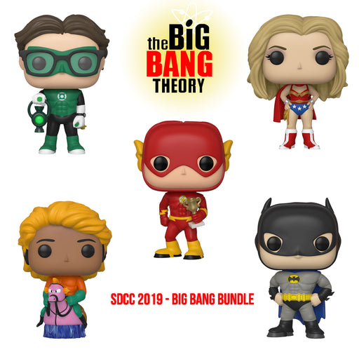BIG BANG THEORY - DC HEROES (SDCC EXCLUSIVE) SET