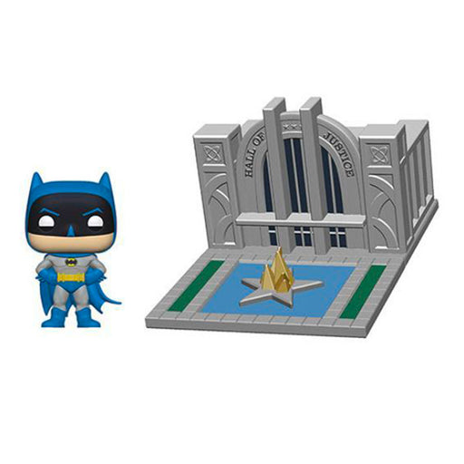 DC BATMAN - BATMAN WITH HALL OF JUSTICE (80TH ANNIVERSARY) (POP TOWN)