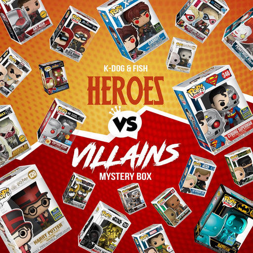 K-DOG & FISH: HEROES VS VILLAINS MYSTERY BOX (SOLD OUT)