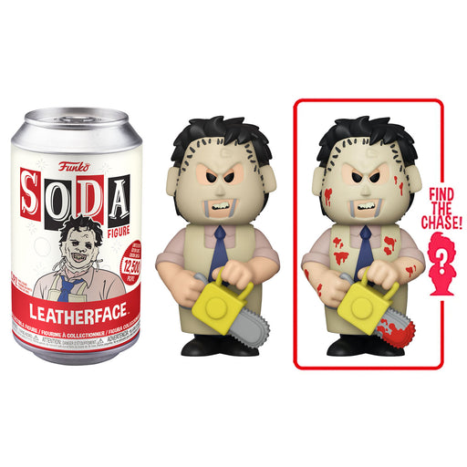FUNKO SODA CAN: VINYL FIGURE - LEATHERFACE (LIMITED 12,500) (PRE-ORDER)