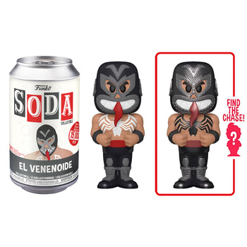 FUNKO SODA CAN: VINYL FIGURE - MARVEL: LUCHADORES - VENOM (LIMITED 15,000)