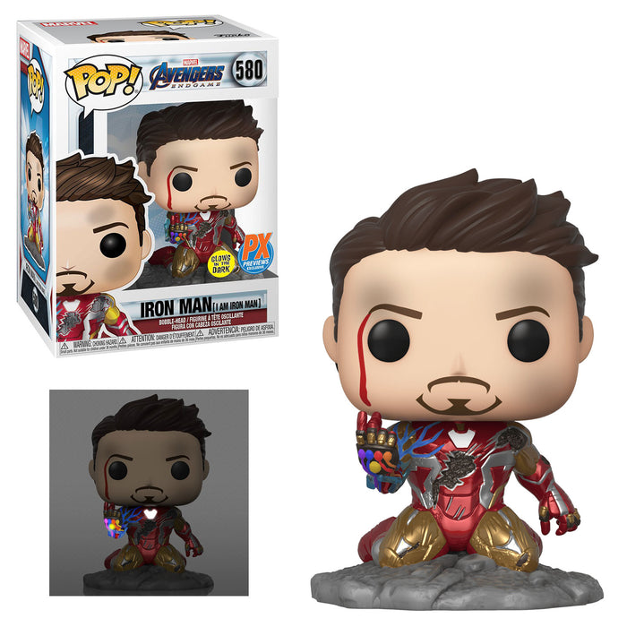 "AVENGERS: ENDGAME - IRON MAN - ""I AM IRON MAN"" (METALLIC) (GITD) PX EXCLUSIVE"