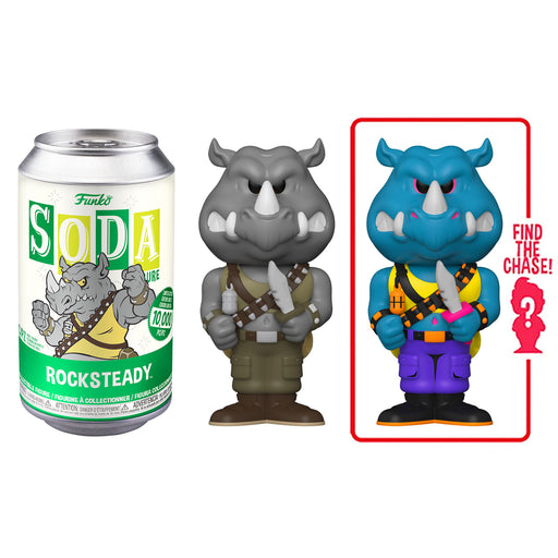 FUNKO SODA CAN: VINYL FIGURE - TMNT: ROCKSTEADY (LIMITED 10,000) (PRE-ORDER)