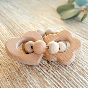 Heart & Flower Teether
