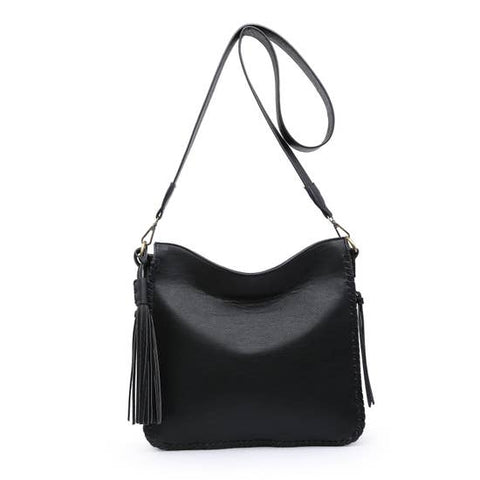 Black Whipstich Crossbody