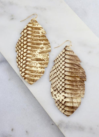 Madison Snake Feather Earring