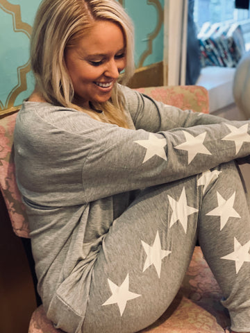 Grey and White Star Set