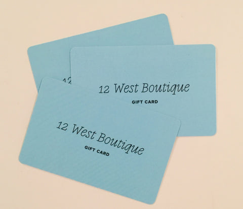 12 West Gift Card From $10-$100