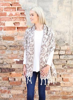 Beige Soft Knit Scarf
