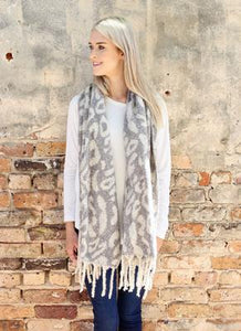 Gray Soft Knit Scarf