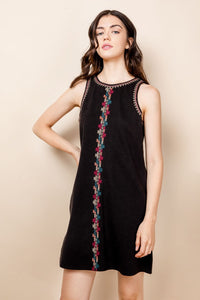 Black Embriodered Dress