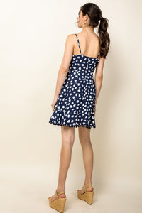 Spotted Ruffle Dress