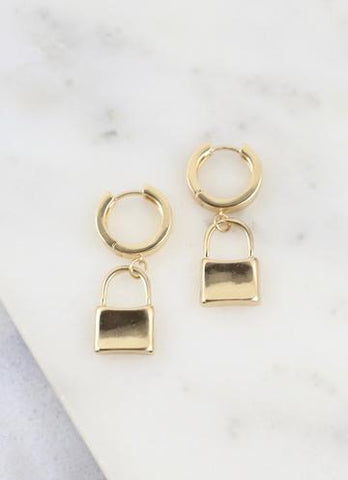Matthew Gold Lock Earring