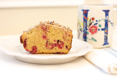 Raspberry Honey Bread with Pecan Streusel
