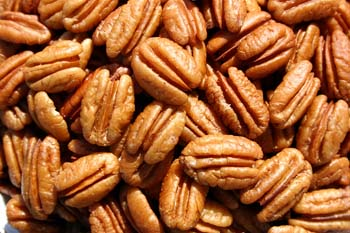 Delicious golden native pecan halves that are great for baking and have a high oil content. Available in 5 pound bags or 1 pound bags.