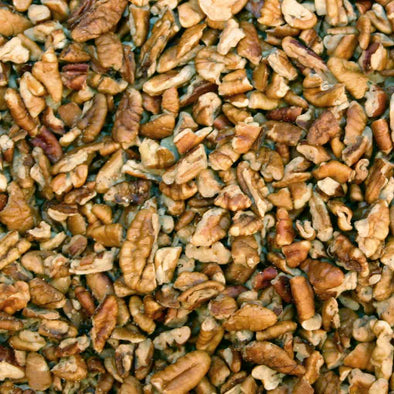 Our pecan pieces are fresh as you can buy. Perfect for baking or adding in a salad! Available in 16 ounce bags or 5 pound bags.