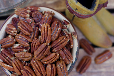 Rattlesnake Ranch Pecans offers the most delicious Texas pecans for sale. You can't go wrong with our Roasted Salted Pecans. You can enjoy these yourself or they make excellent Texas Gifts!