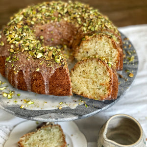 Zucchini, Lemon and Pistachio Bundt Cake
