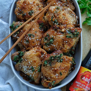Sweet Soy Chicken with Coriander Chimichurri