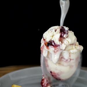 Condensed Milk And Plum Jam Ice Cream