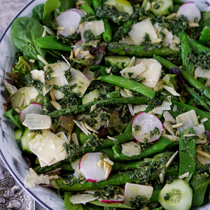 Spring Pea And Asparagus Salad