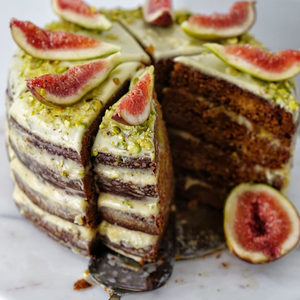 Sticky Fig And Pistachio Cake