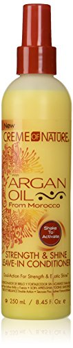 Creme of Nature with argan oil - Strength & Shine Leave-In Conditioner - 250 mL / 8.45 Fl Oz. : Standard Hair Conditioners : Beauty