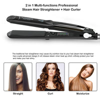 Professional Steam Hair Straightener Ceramic Vapor Hair Styling Tool