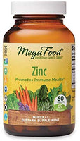 MegaFood, Zinc, Immune Health Support, Mineral and Dietary Supplement, Gluten Free, Vegan, 60 Tablets (60 Servings) (FFP): Health & Personal Care