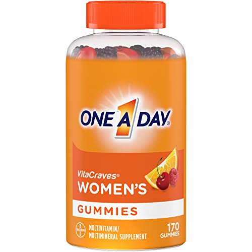 One A Day Women's VitaCraves Multivitamin Gummies, Supplement with Vitamins A, C, E, B6, B12, Calcium, and Vitamin D, 170 Count: Health & Personal Care