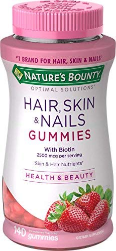 Nature's Bounty Vitamin Biotin Optimal Solutions Hair, Skin and Nails Gummies