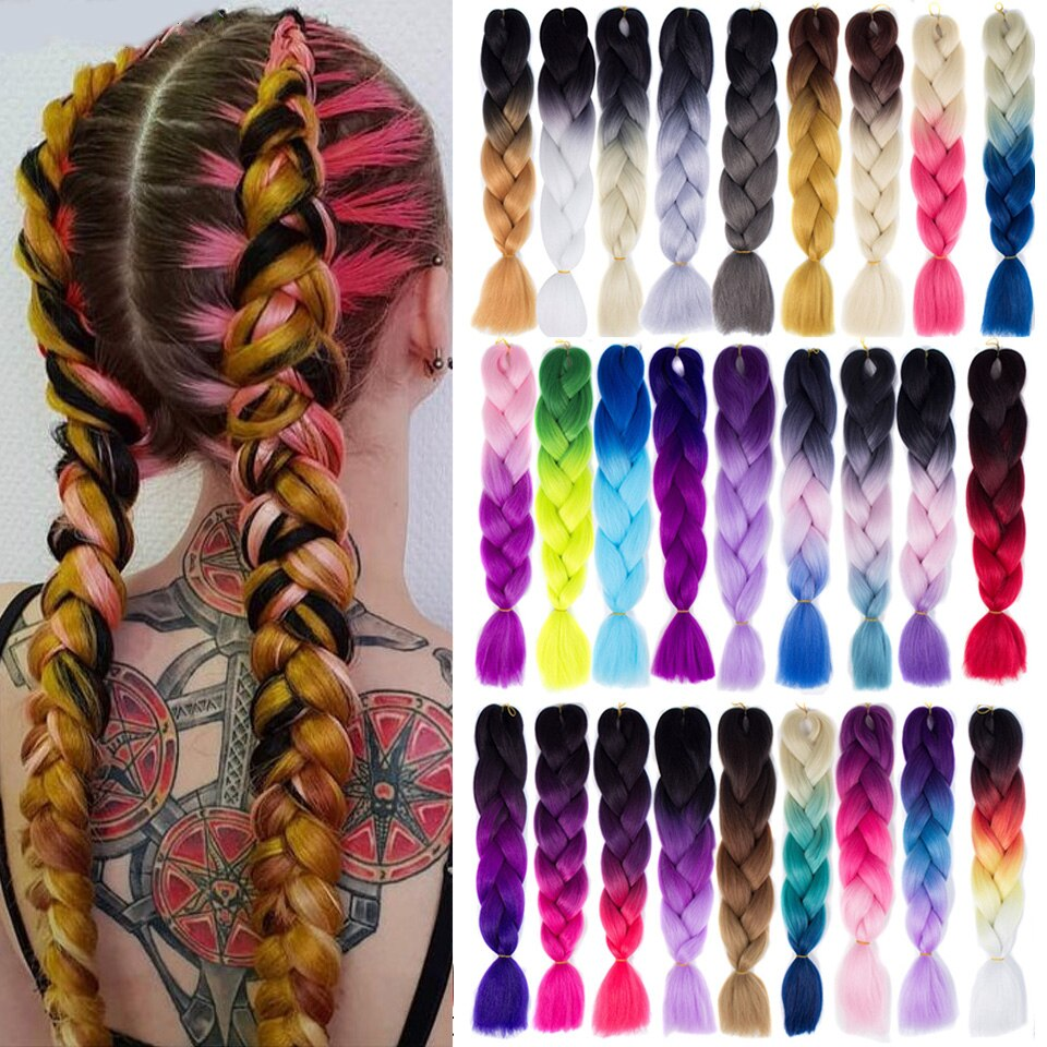 Synthetic Jumbo Braids Ombre Braiding Hair Extension