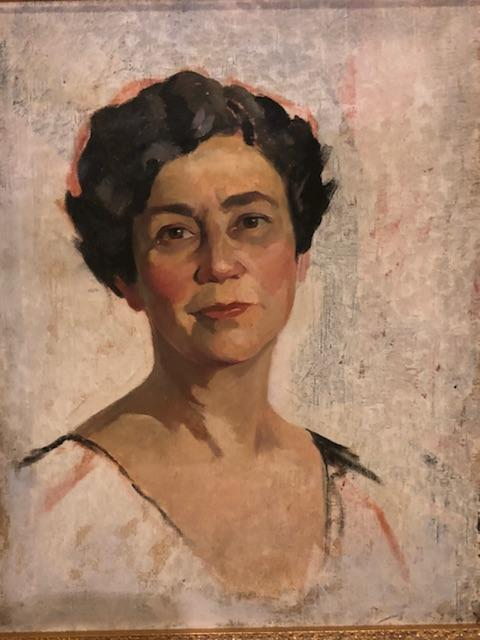 1980s Geoffrey Norman Oil on Canvas Portrait Painting