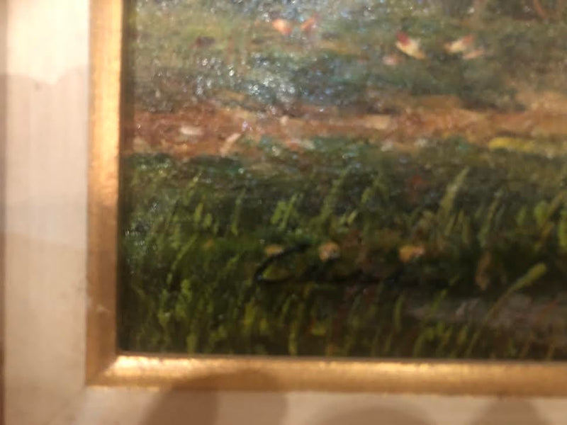 1990s Oil on Canvas Signed Landscape Painting