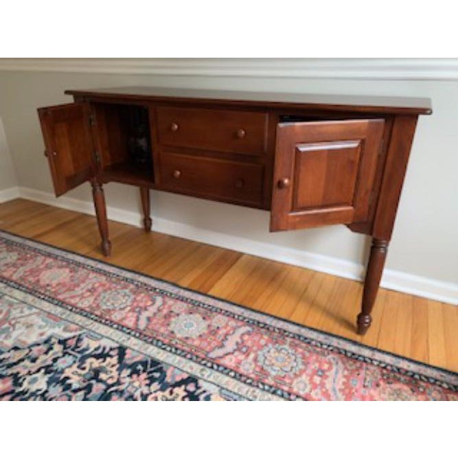 1990s Traditional Nichols & Stone Cherry Finish Maple Sideboard or Credenza
