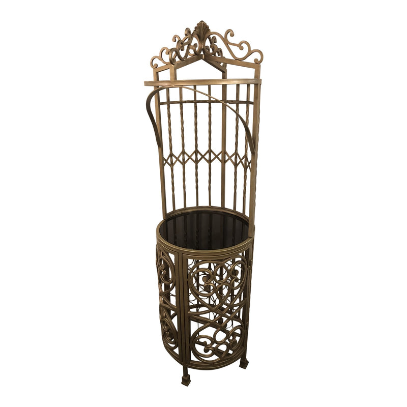 1990s Traditional Silver Metal Etagere