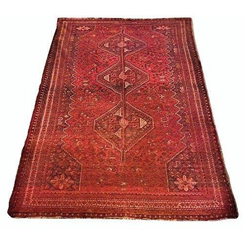 VINTAGE LARGE PERSIAN QASHQA'I CARPET 100% WOOL RUG