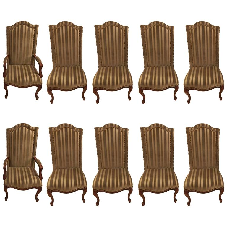 Set of Ten Harden Dining Room Chairs