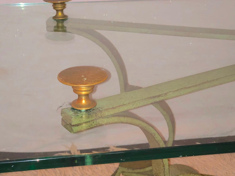 Gilt Brass and Iron Neoclassical Style Low or Coffee Table