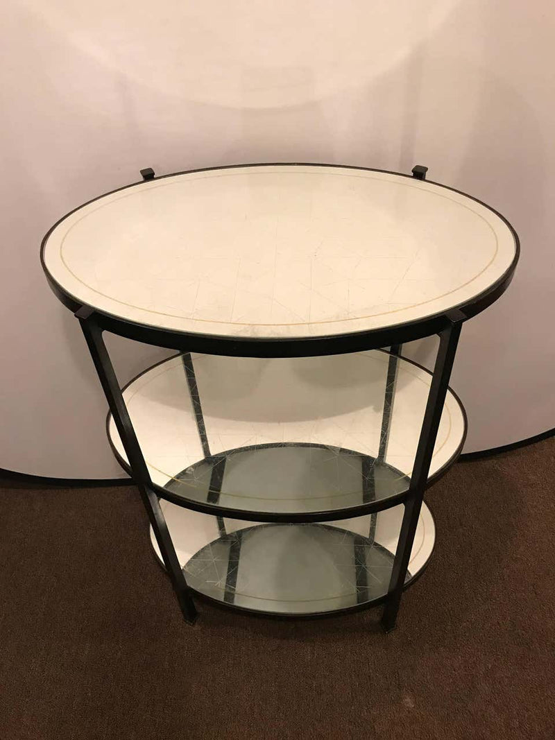 Jonathan Charles Three-Tier Eqlomise Side Table Standing Bar