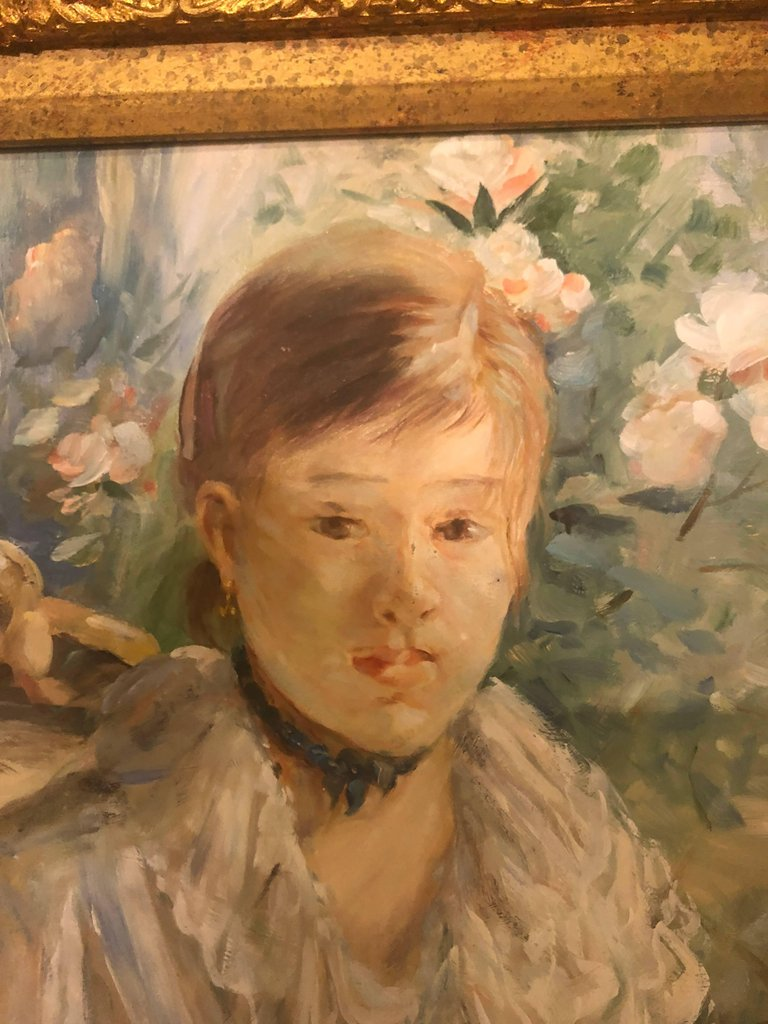 Impressionistic Portrait Oil on Board Painting In-Distinctively Signed Picard