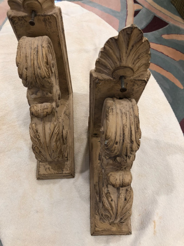 Pair of Mid-Century Wall Brackets