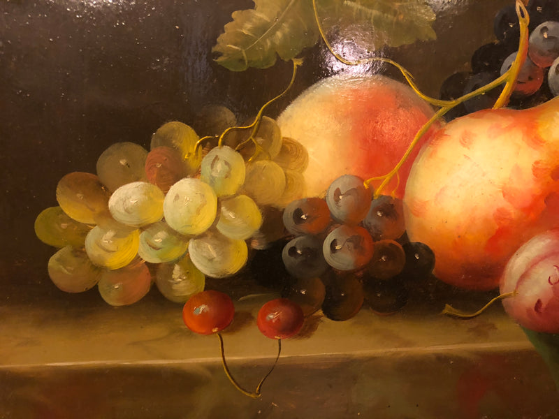 Oil on Panel Still Life Fruit Painting