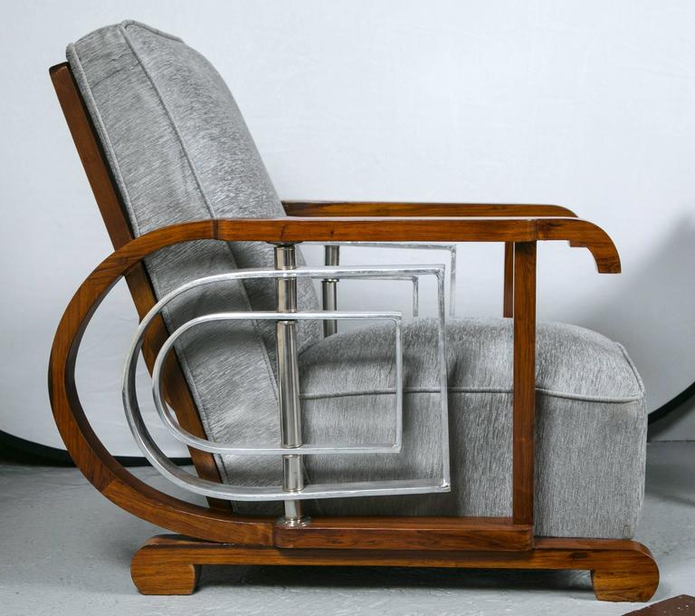Pair of Mid-Century Modern Art Deco Style Lounge / Theater Chairs