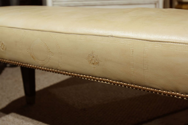 "Maison Jansen Leather ""L"" Bench"